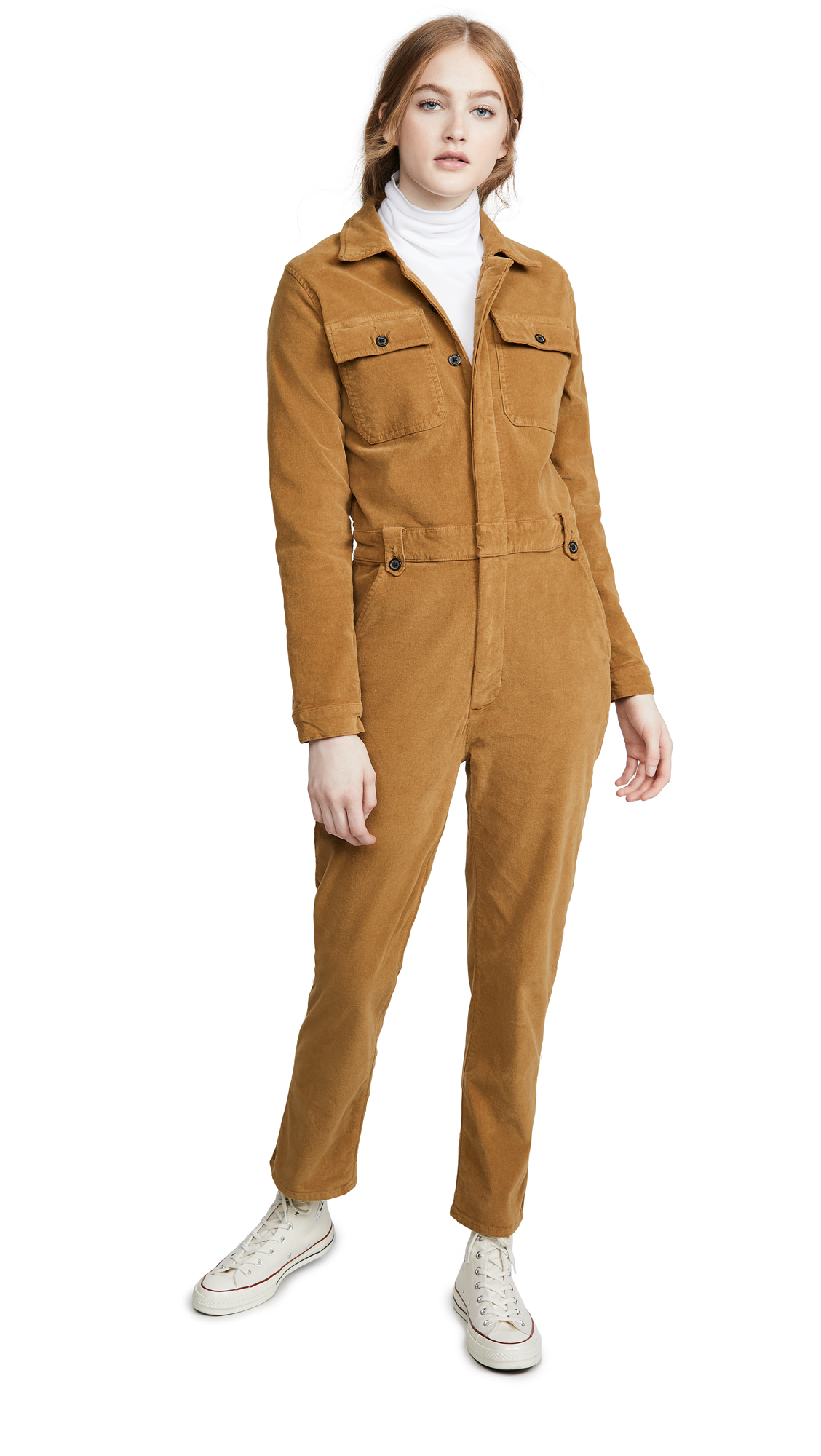FRAME Caitlin Cord Coveralls