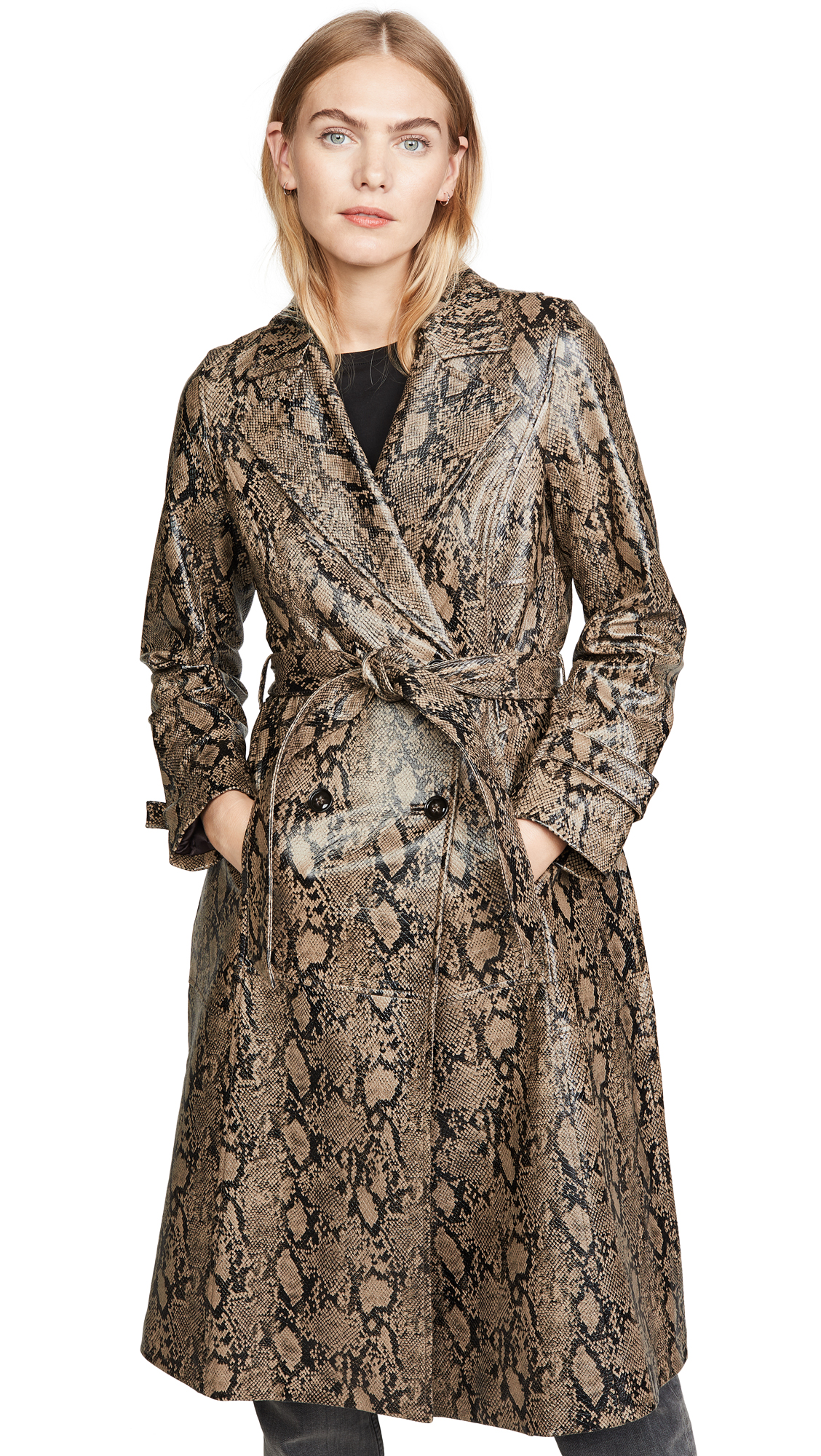 Buy FRAME Embossed Python Trench Coat online beautiful FRAME Jackets, Coats, Trench Coats