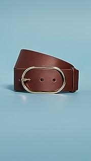 FRAME Grand Oval Buckle Belt