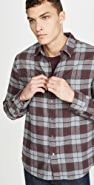 FRAME Brushed Plaid Button Down Shirt