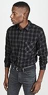 FRAME Plaid Single Pocket Button Down Shirt