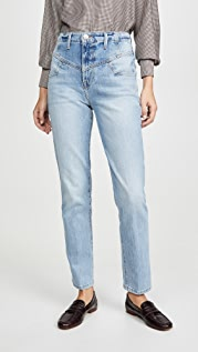 FRAME Retro V Yoke Straight Jeans