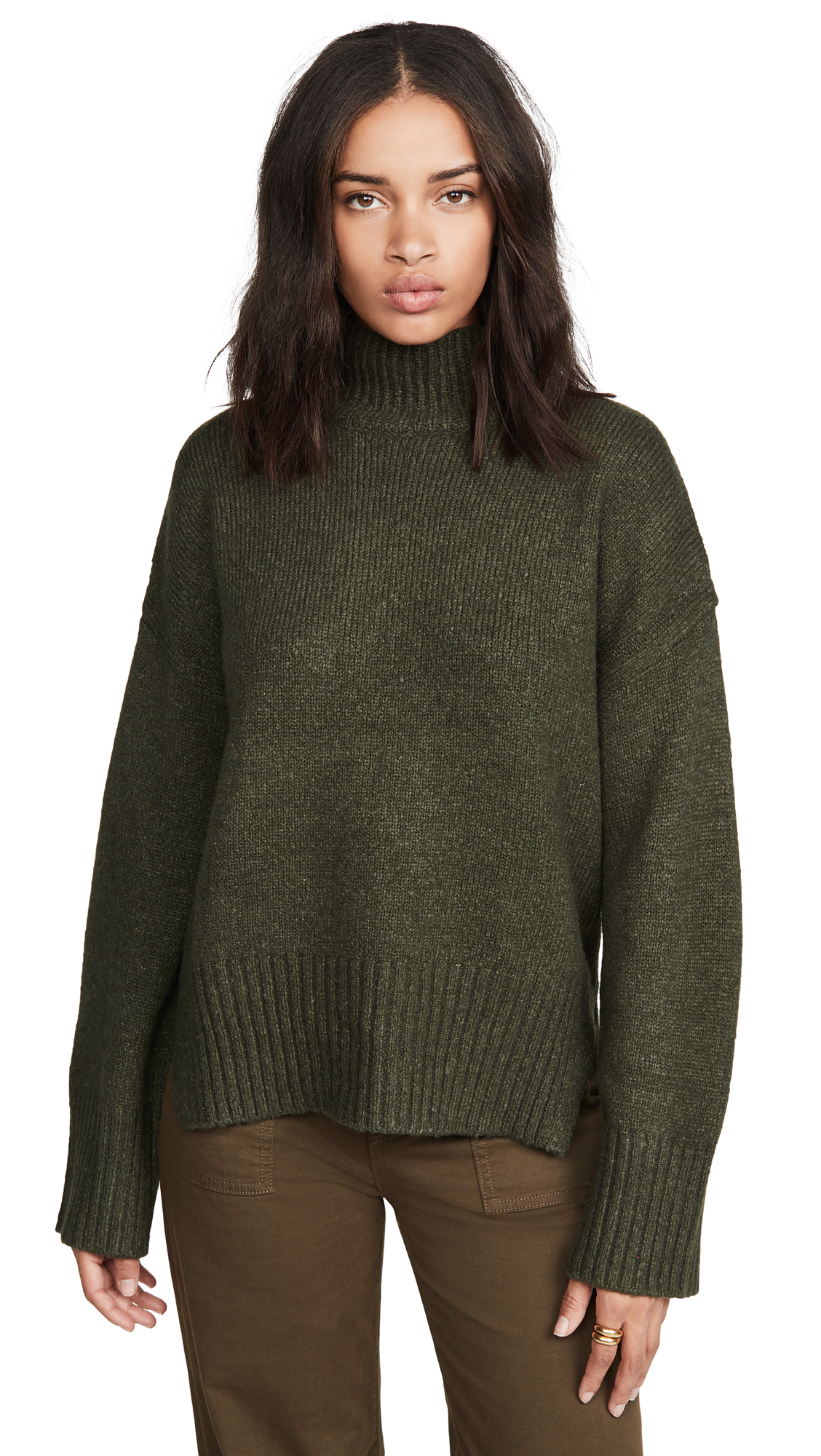 Buy FRAME online - photo of FRAME Side Slit Mock Neck Sweater