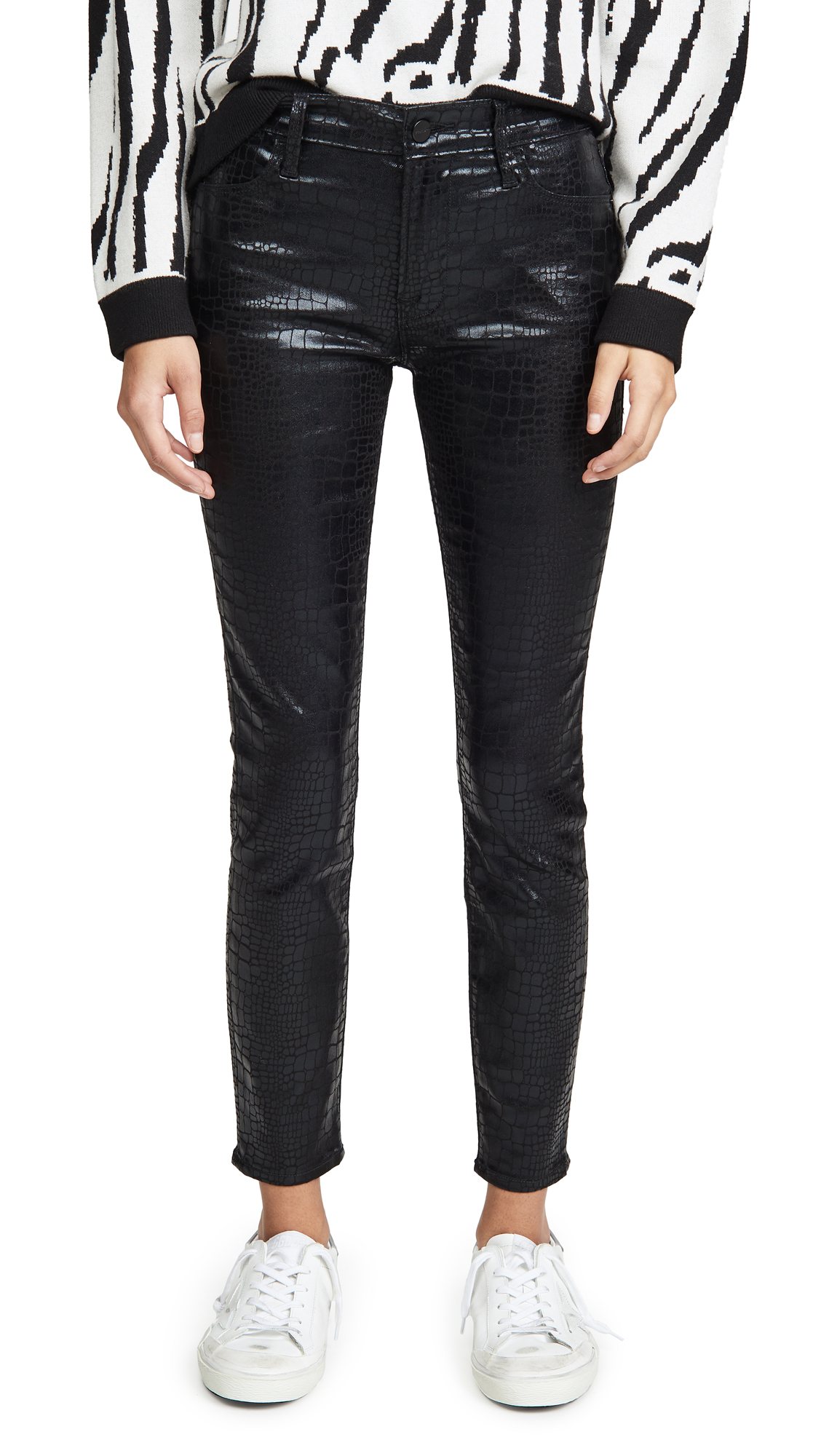 Buy FRAME online - photo of FRAME Le High Skinny Croc Jeans