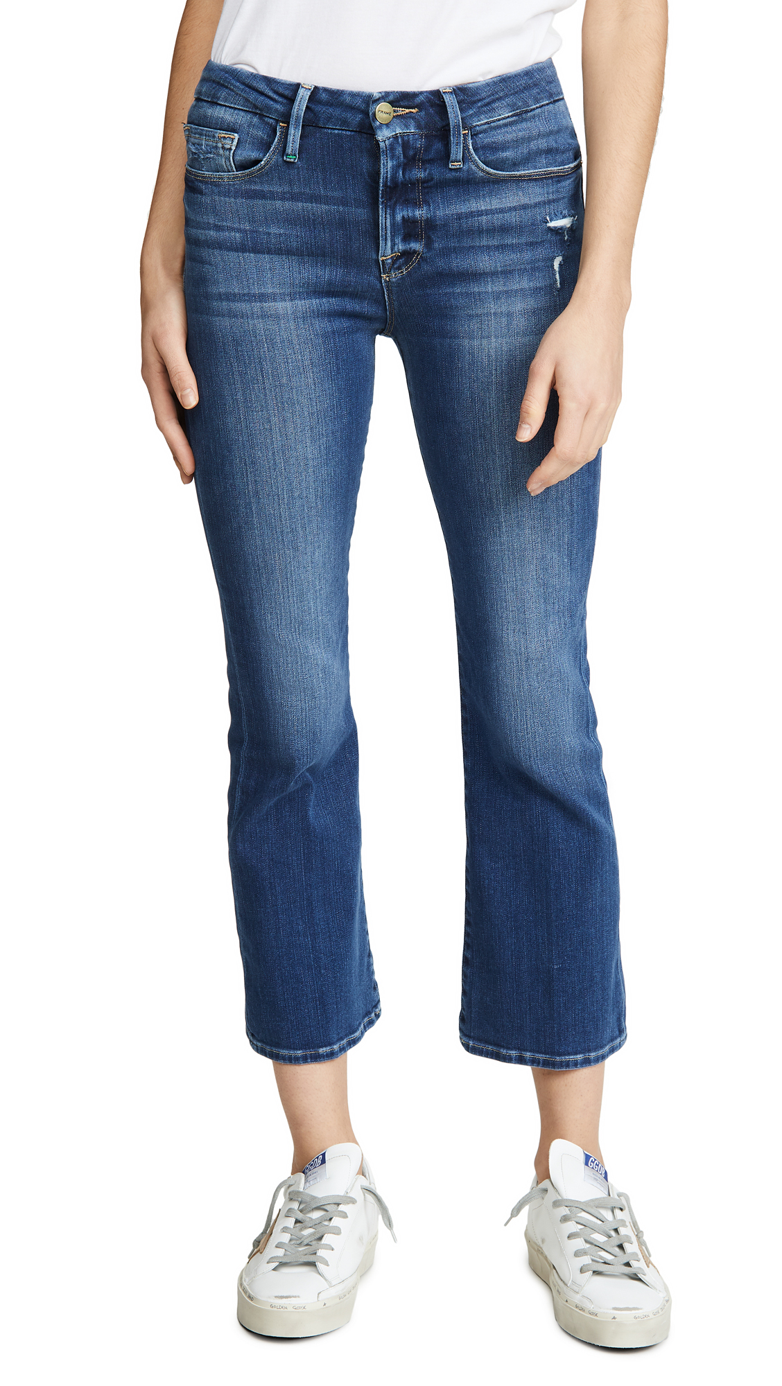 Buy FRAME online - photo of FRAME Le Crop Mini Boot Jeans
