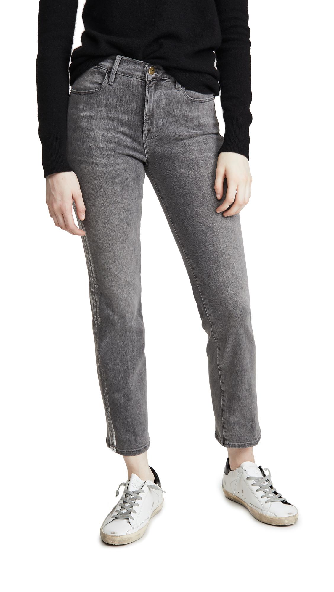 Buy FRAME online - photo of FRAME Le High Straight Foil Tux Jeans