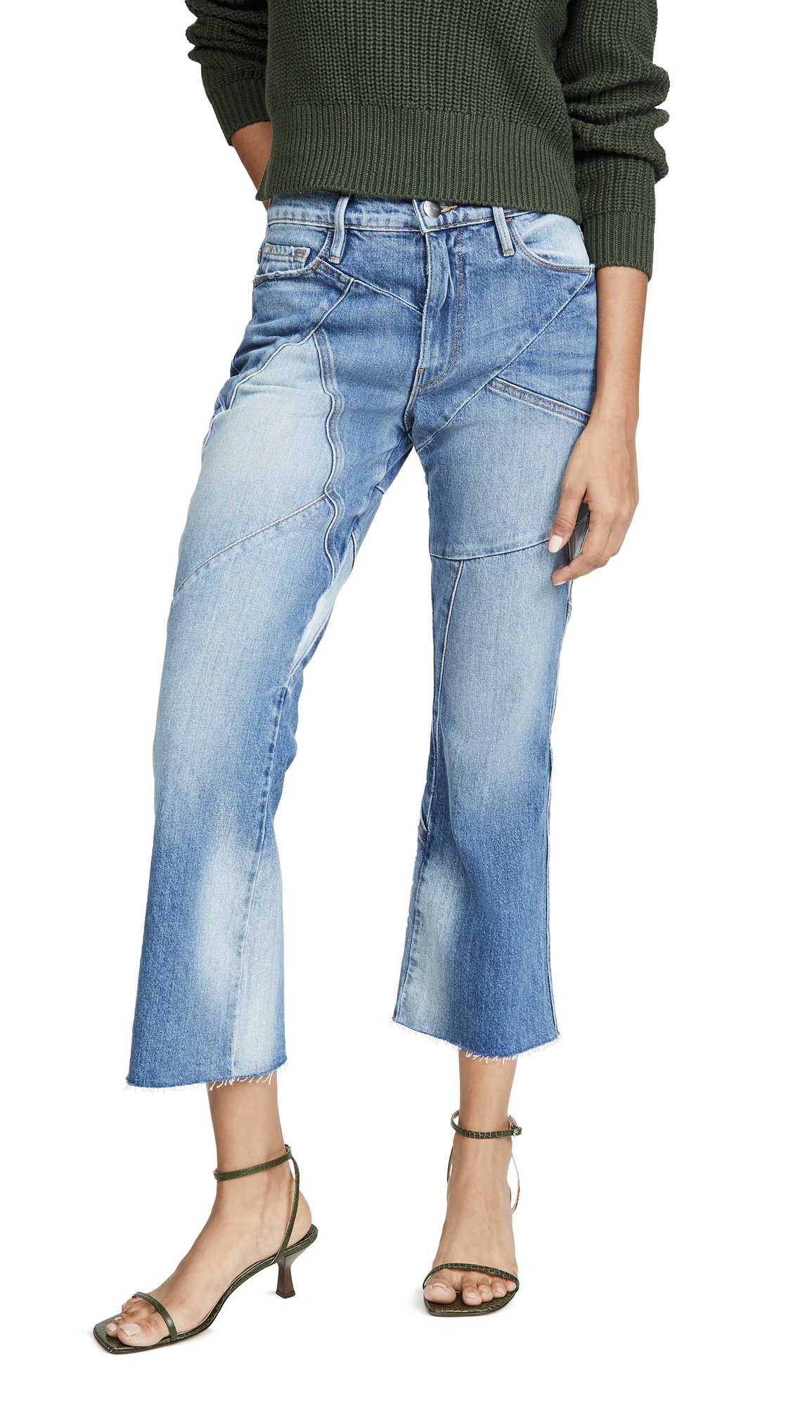 Buy FRAME online - photo of FRAME Le Sylvie Kick Boot Mix Jeans