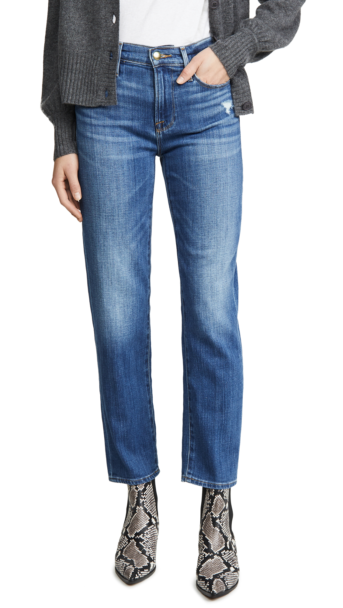 Buy FRAME online - photo of FRAME Le Nouveau Straight Jeans