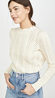 FRAME Pointelle Petal Sweater