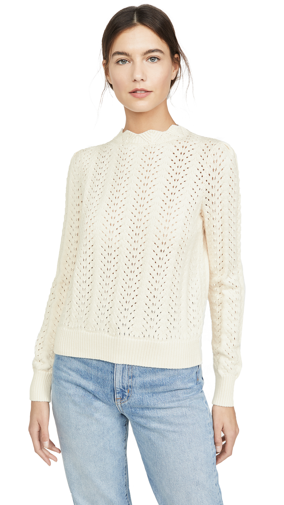 Buy FRAME online - photo of FRAME Pointelle Petal Sweater