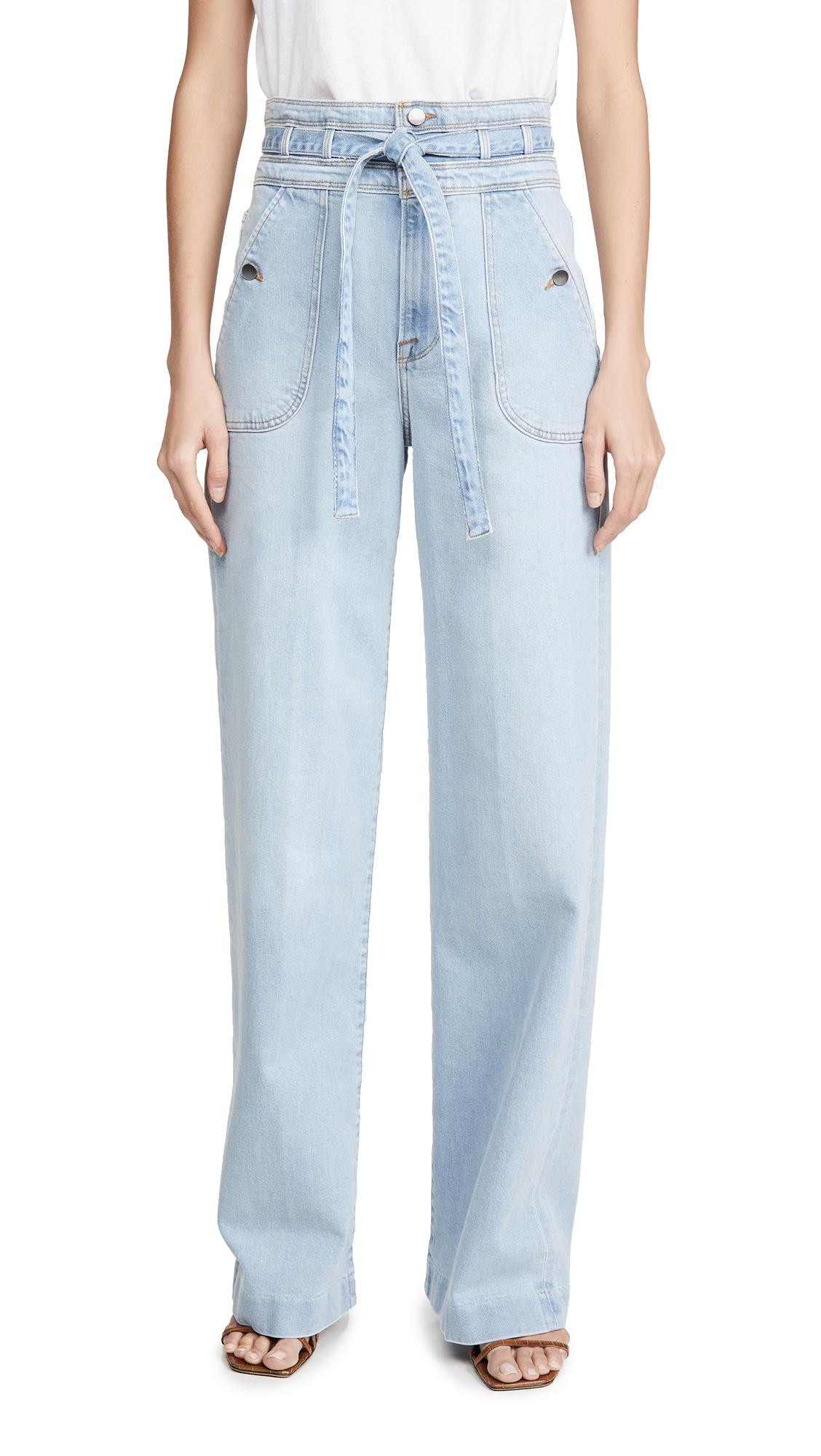 Buy FRAME online - photo of FRAME Ali Wide Leg Triple Waist Tie Jeans