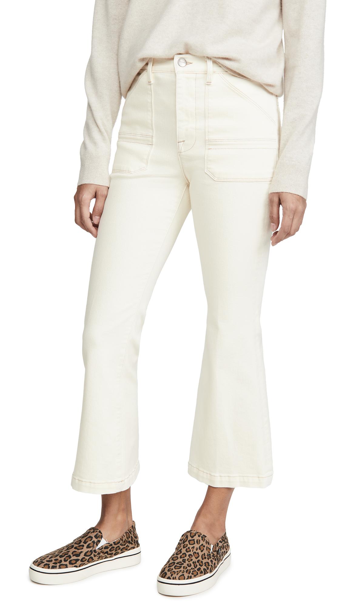 Buy FRAME online - photo of FRAME Carpenter Color Crop Flare Jeans