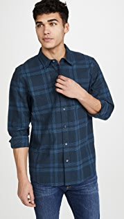 FRAME Plaid Single Pocket Button Down Shirt