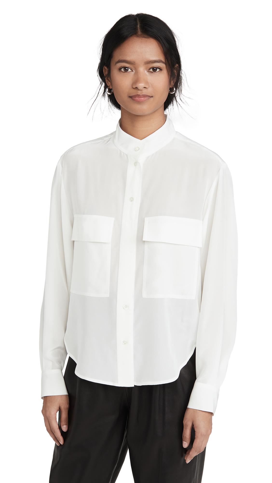 FRAME Silk Clean Safari Shirt - 50% Off Sale