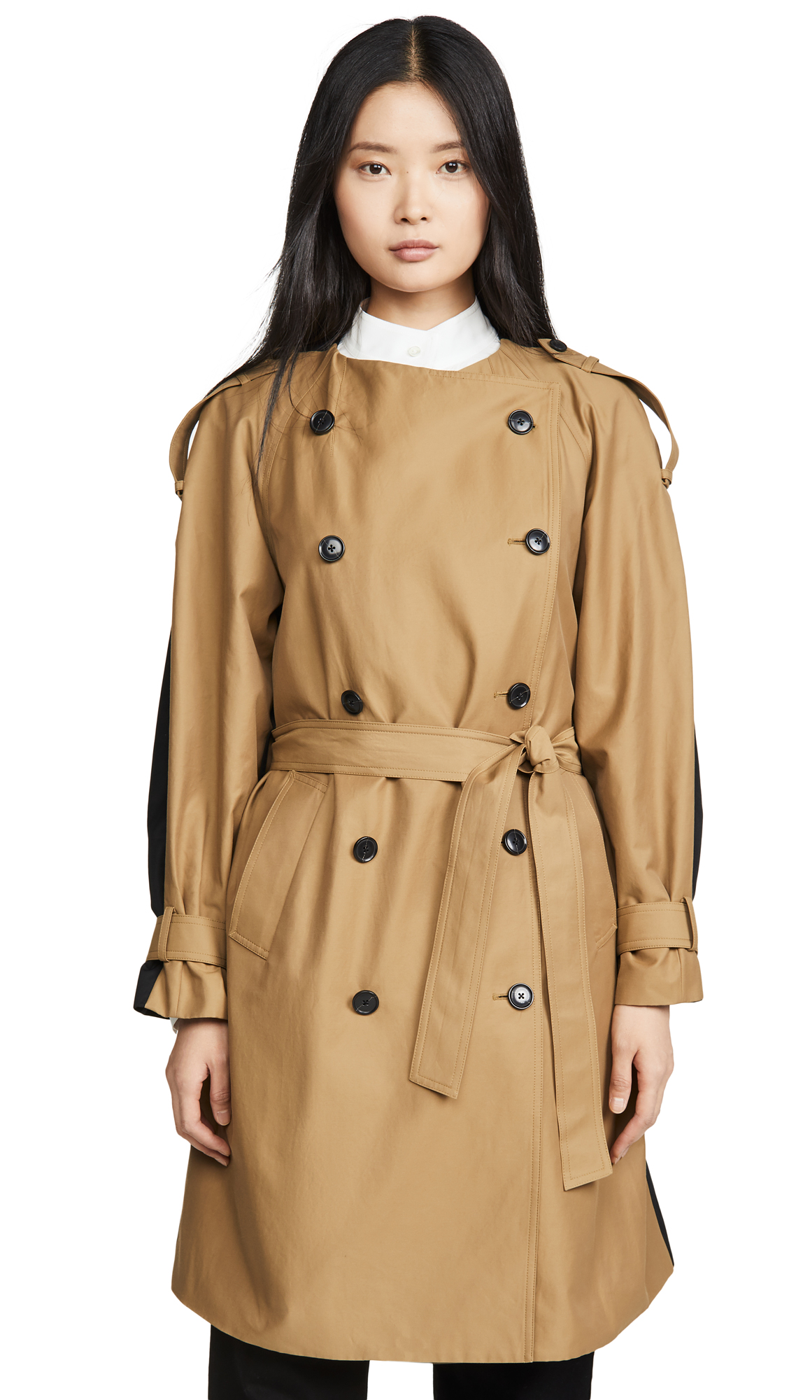 Buy FRAME online - photo of FRAME Colorblocked Trench Coat