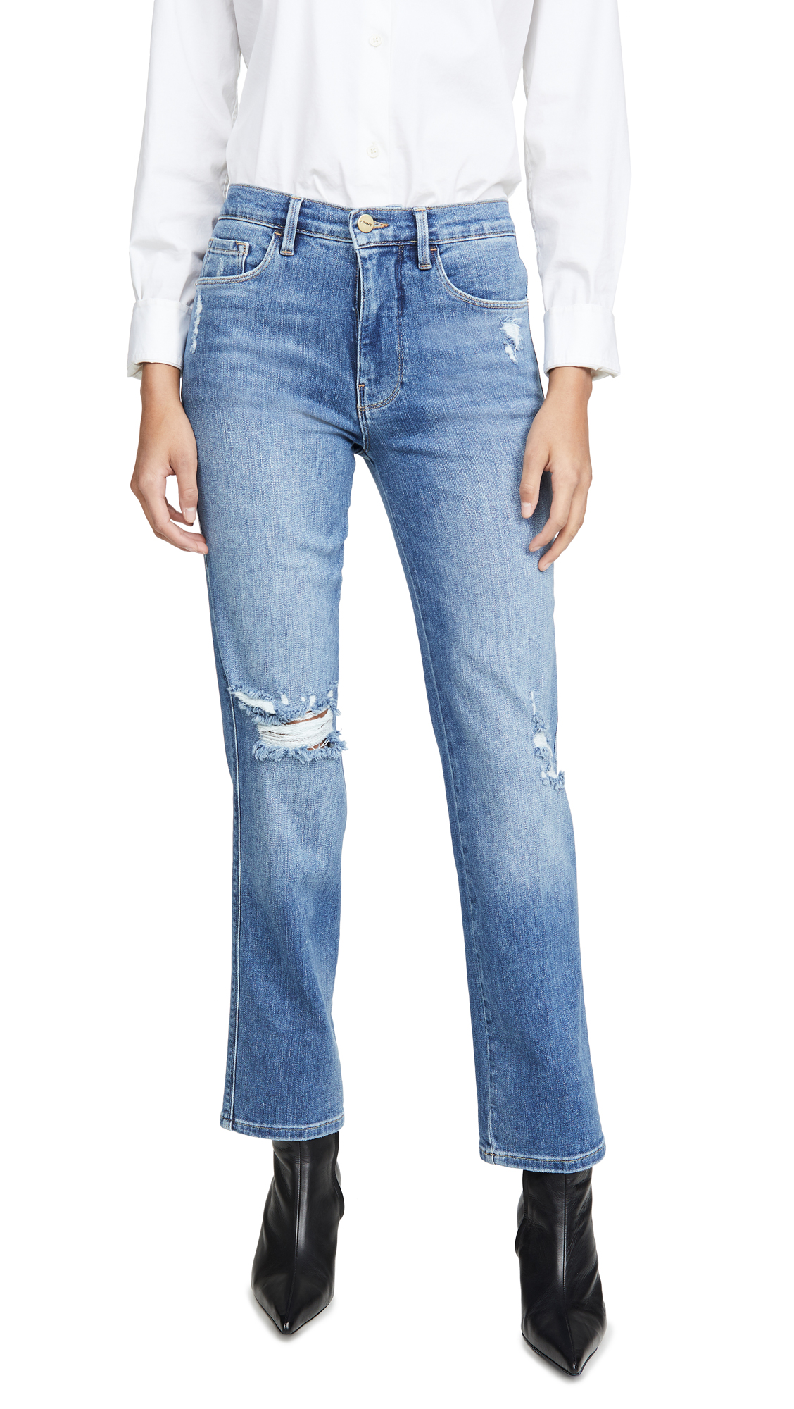 Buy FRAME online - photo of FRAME Le Sylvie Slender Straight Jeans