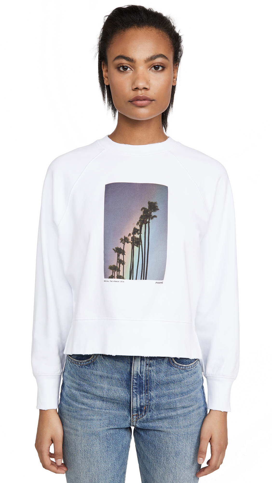 FRAME Rainbow Palm Sweatshirt – 30% Off Sale