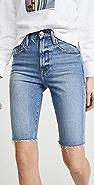 FRAME Le Vintage Sanded Seam Bermuda Shorts