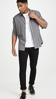 FRAME Long Sleeve Brushed Flannel Shirt
