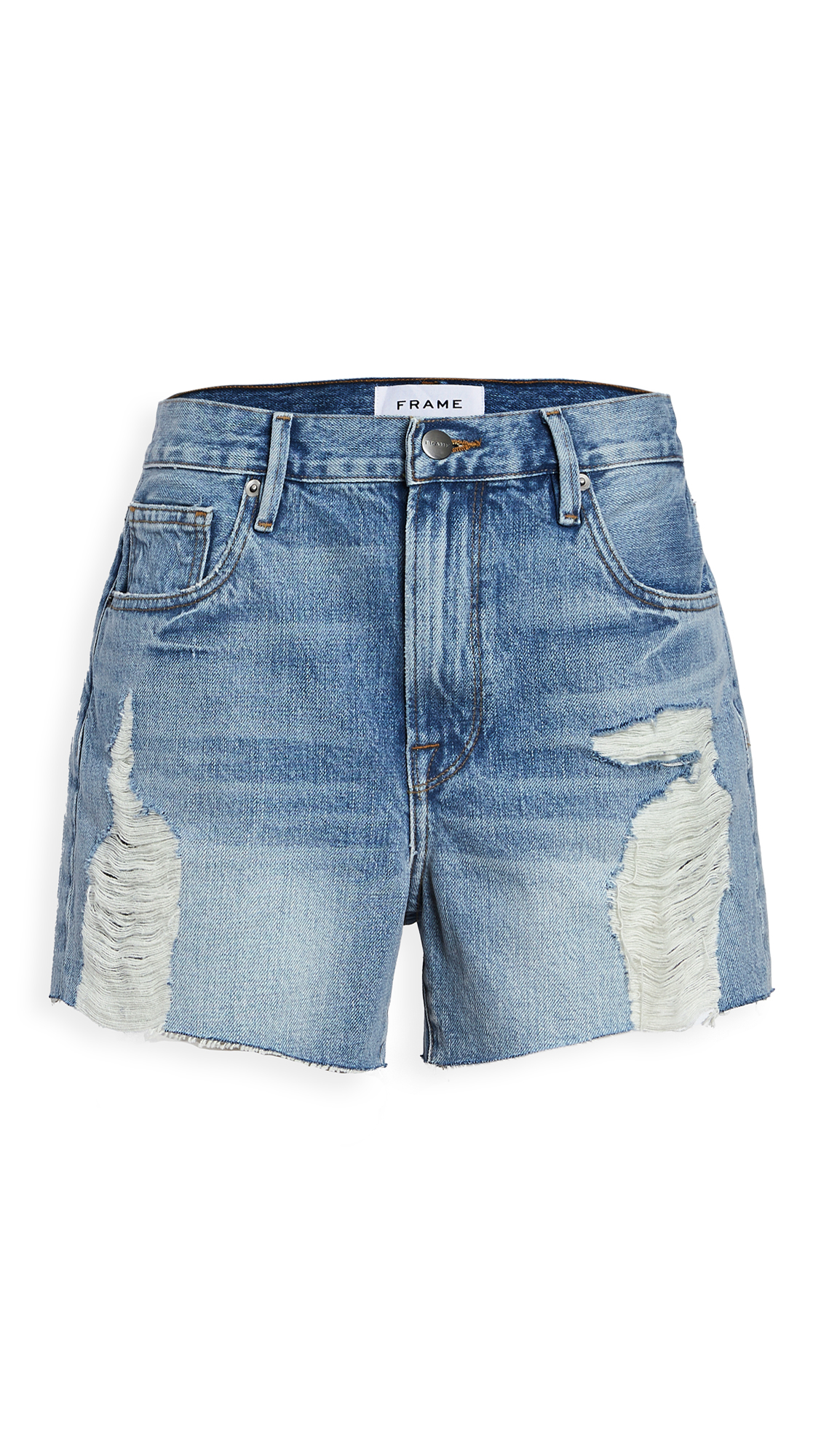 FRAME Le Ultra Baggy Shorts - Lomond Slash