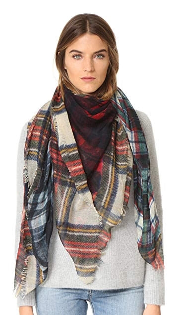 Franco Ferrari Evans Wash Plaid scarf