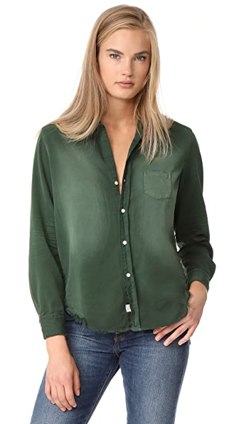 Frank & Eileen Eileen Button Down - Dark Green