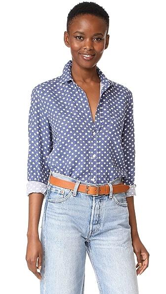 Frank & Eileen Eileen Button Down Shirt - Blue/White