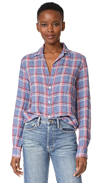 Frank & Eileen Eileen Shirt In Washed Navy Plaid
