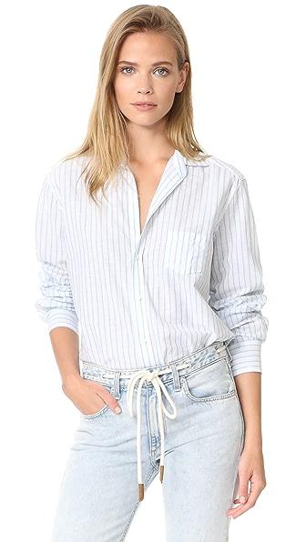 Frank & Eileen Eileen Button Down Shirt - Sky Blue Stripe-1