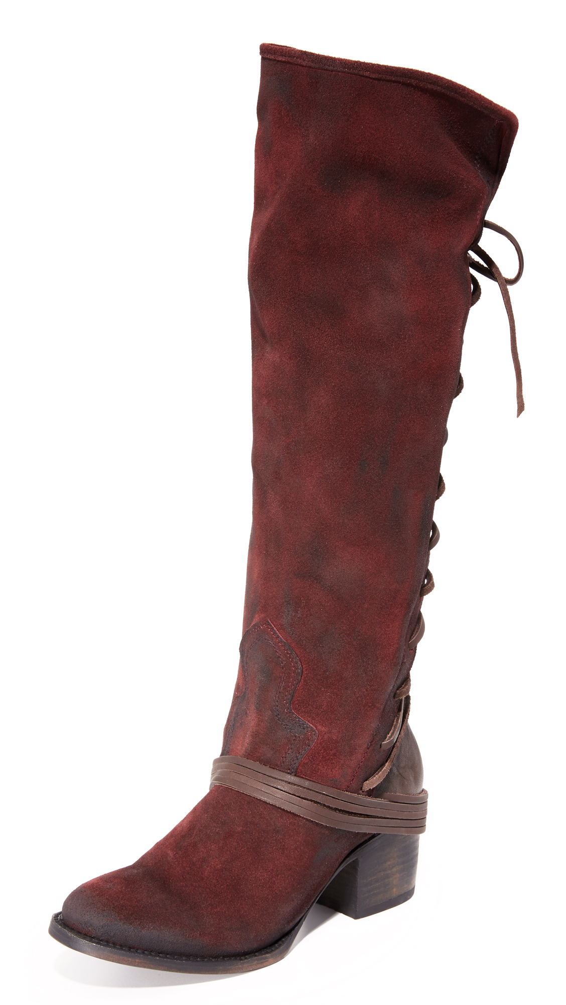 Freebird By Steven Coal Tall Boots - Wine