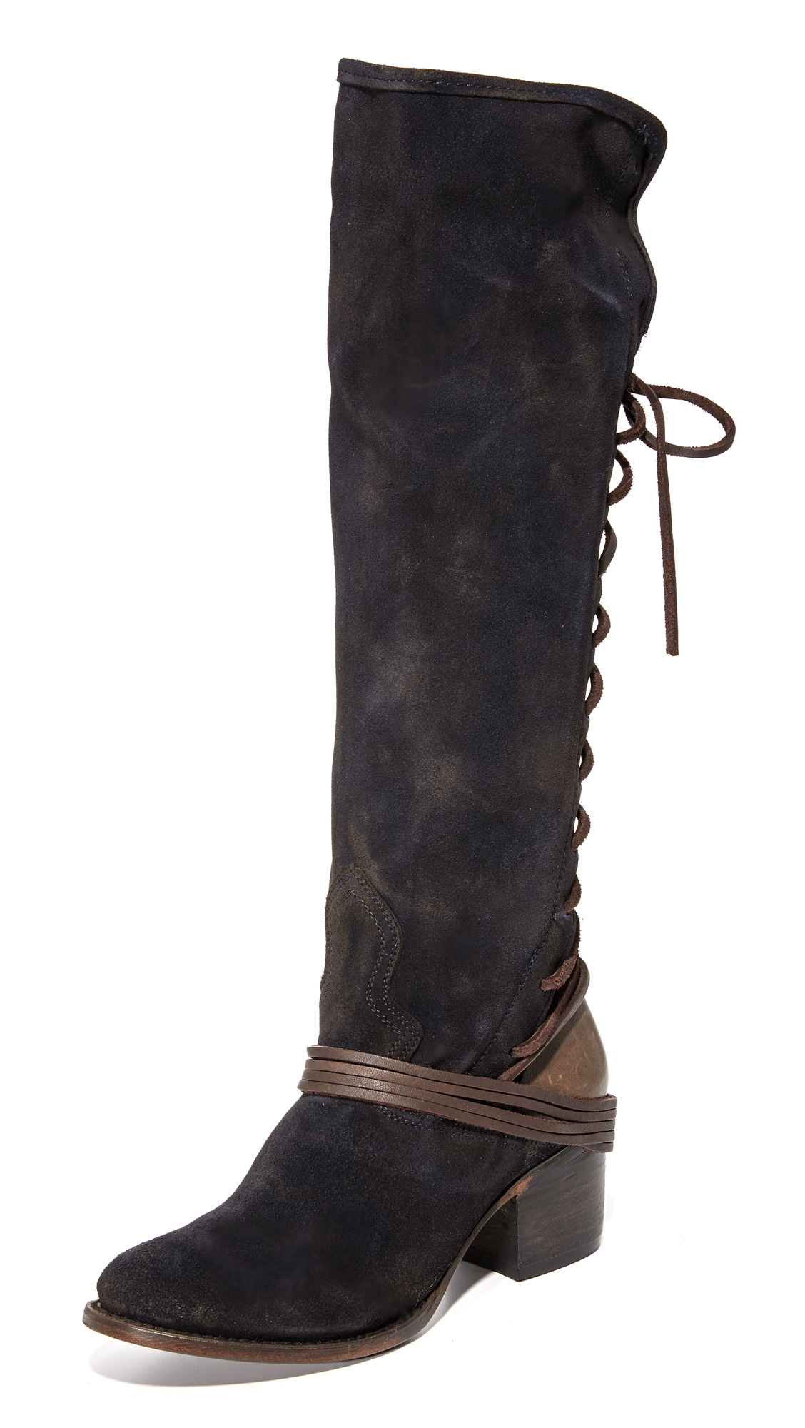 Freebird By Steven Coal Tall Boots - Navy