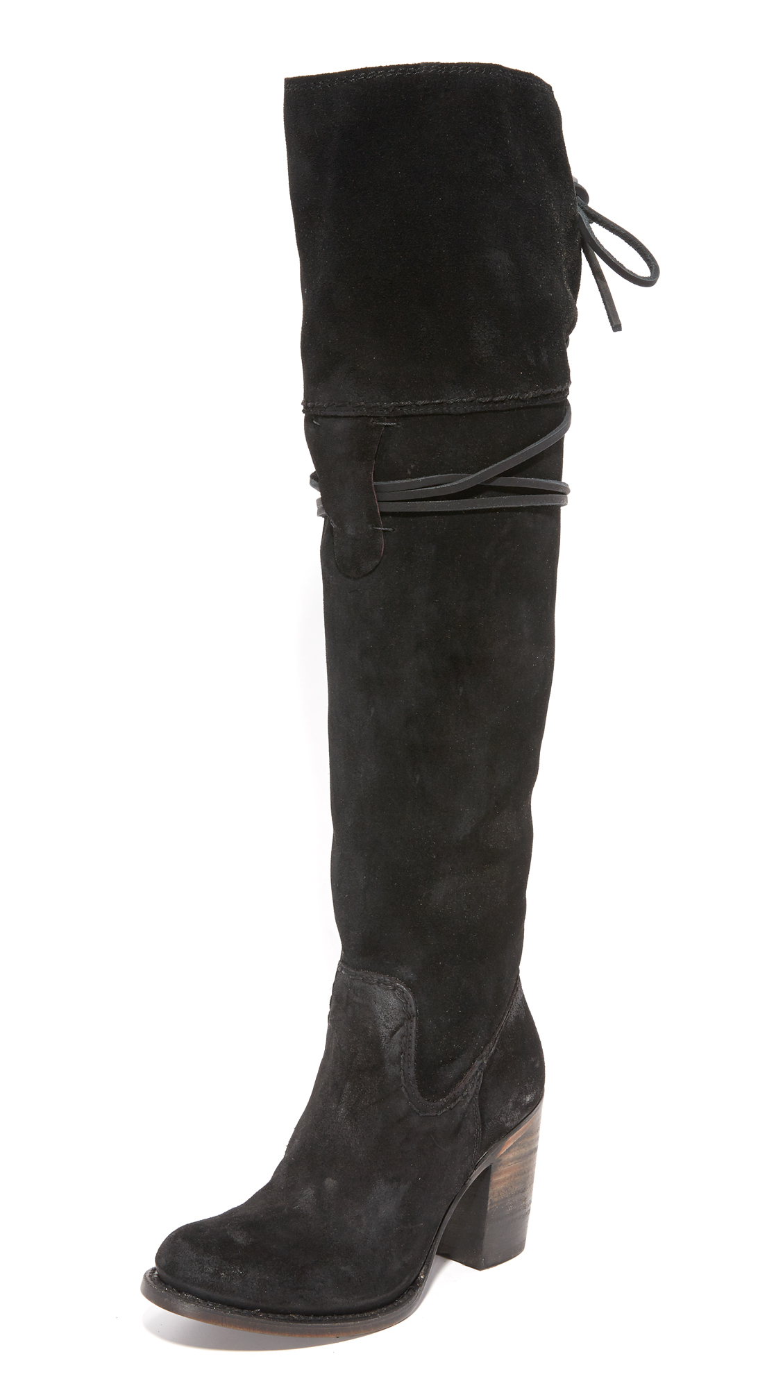 Freebird By Steven Brock Over The Knee Boots - Black