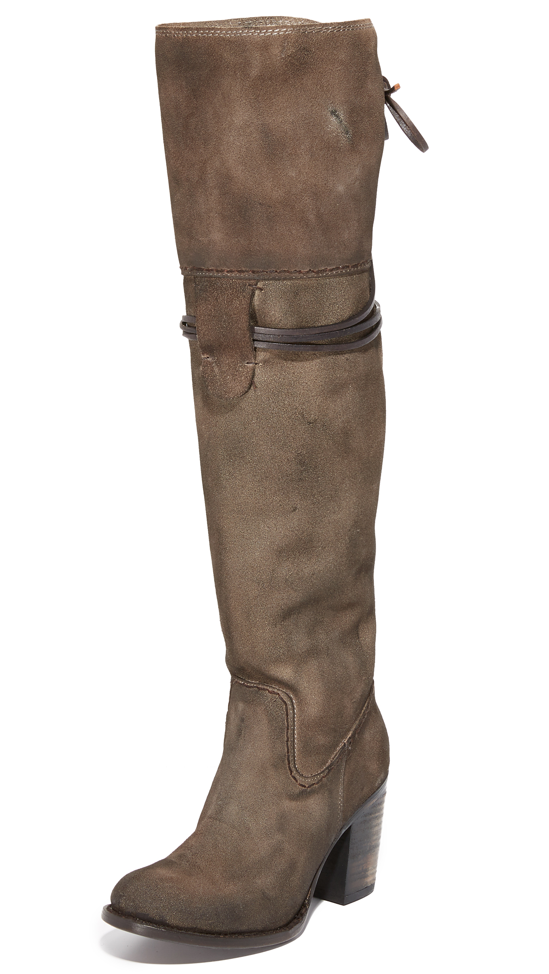 Freebird By Steven Brock Over The Knee Boots - Grey