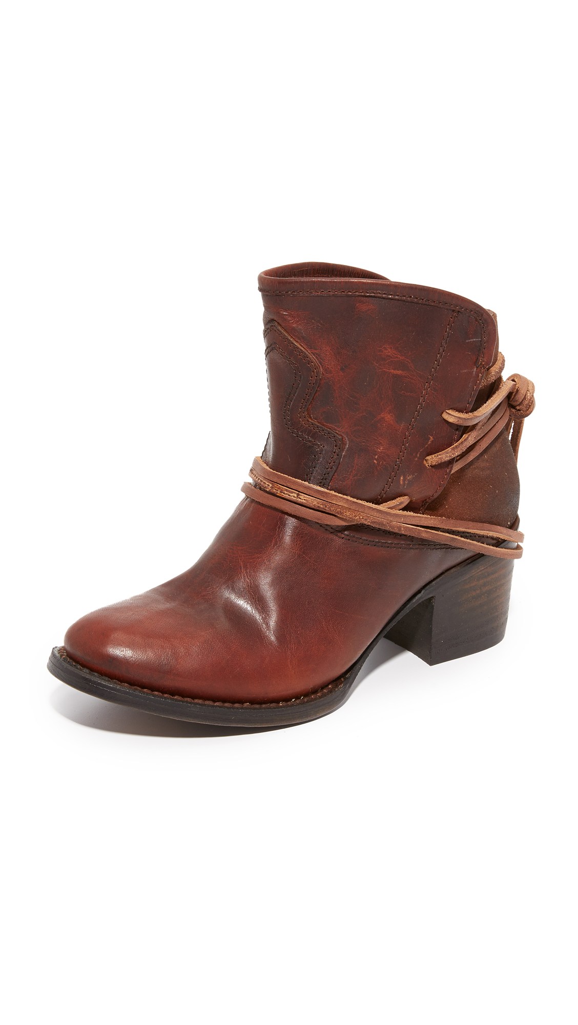 Freebird By Steven Casey Booties - Cognac