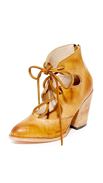 FREEBIRD by Steven Flame Lace Up Booties