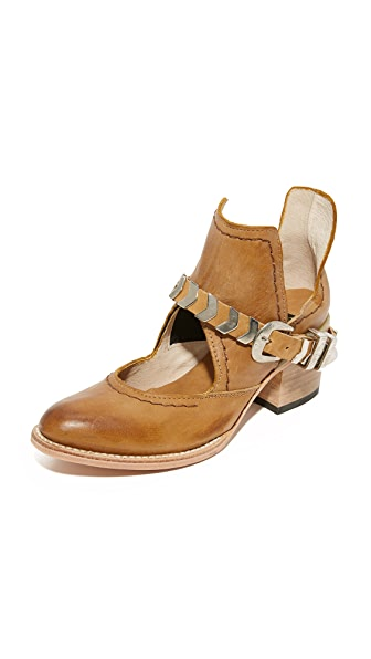 FREEBIRD by Steven Blade Cutout Booties - Brown