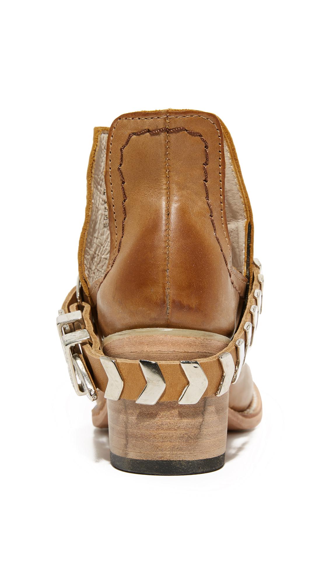 Freebird By Steven Blade Cutout Booties Shopbop D Island Shoes Boots Chukka Slip On Dark Brown Leather