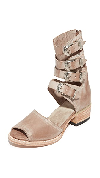 FREEBIRD by Steven Pilar Cutout Booties - Taupe