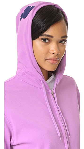 FREECITY Life Nature Love Sherpa Zip Up Hoodie