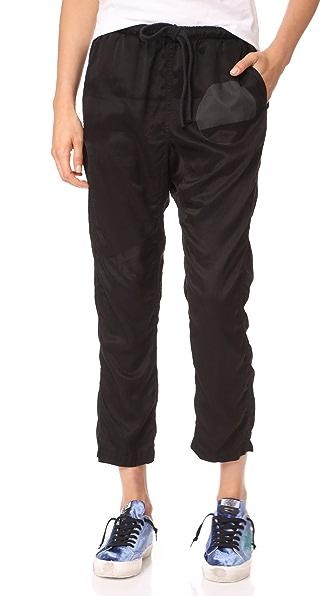 FREECITY Brushed Samurai Sweatpants In Super Black