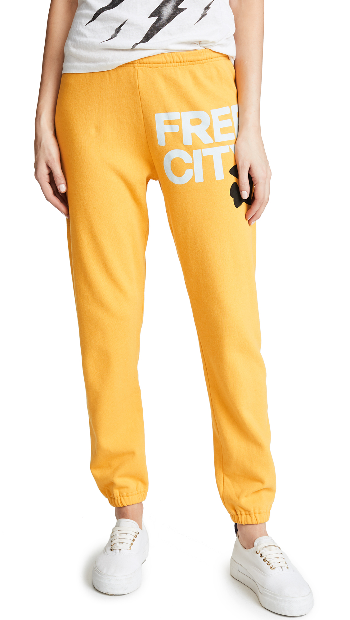 Freecity Sweatpants In Yellow Machine  dcc08c75b086