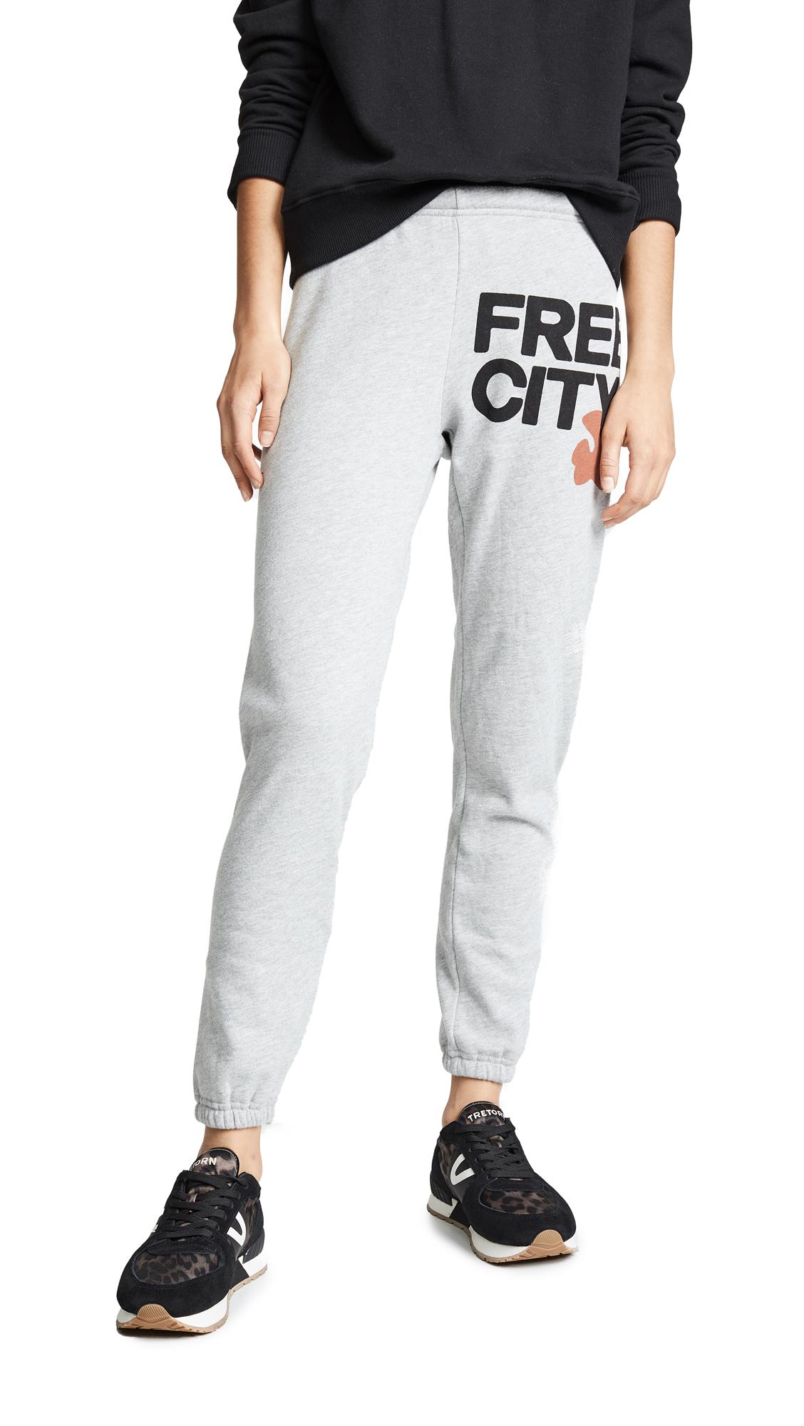 FREE CITY Sweatpants in Heather/Orange