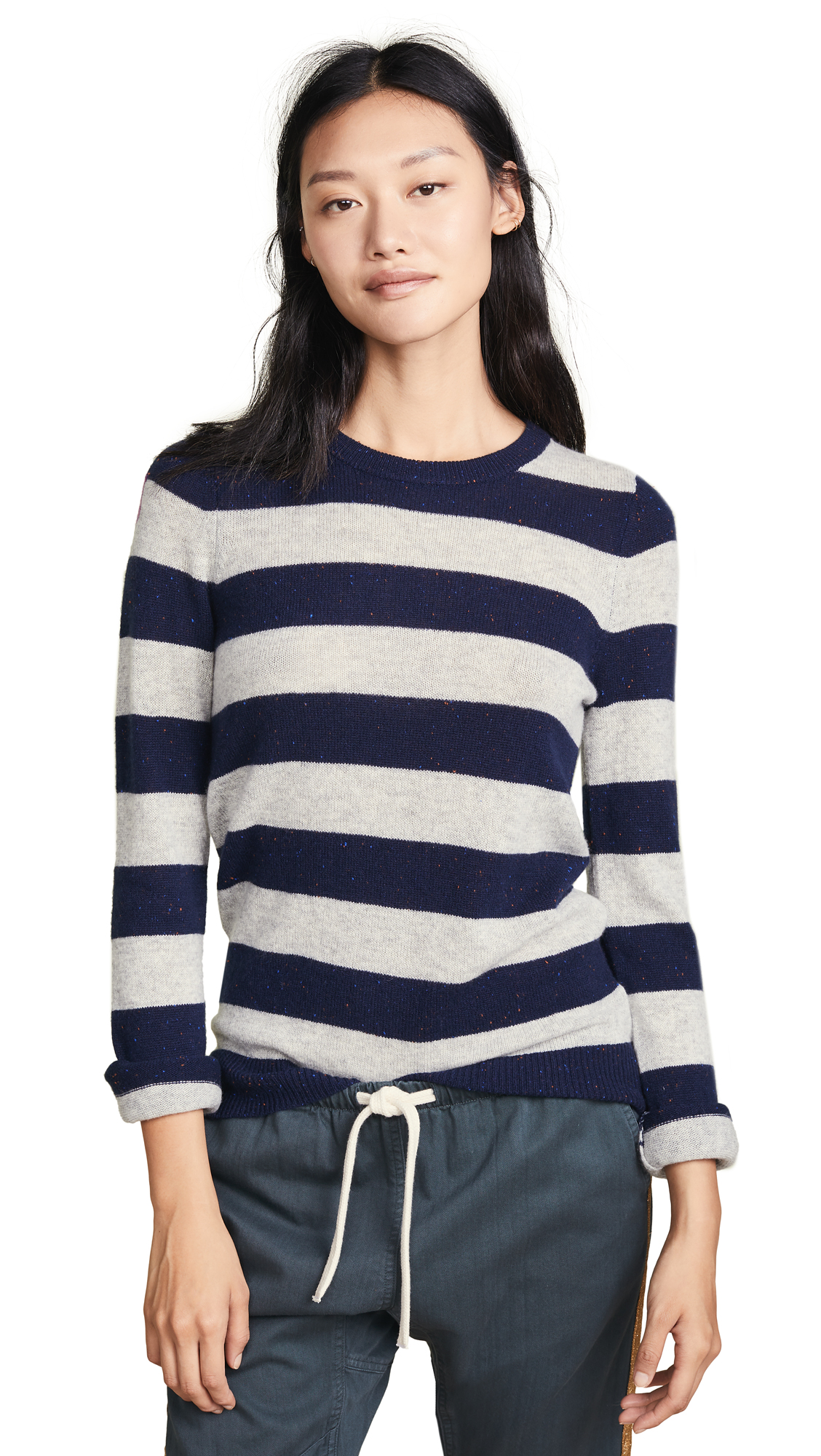 FREECITY Big Strike Dove Cashmere Sweater in Beatles Blue/Heather