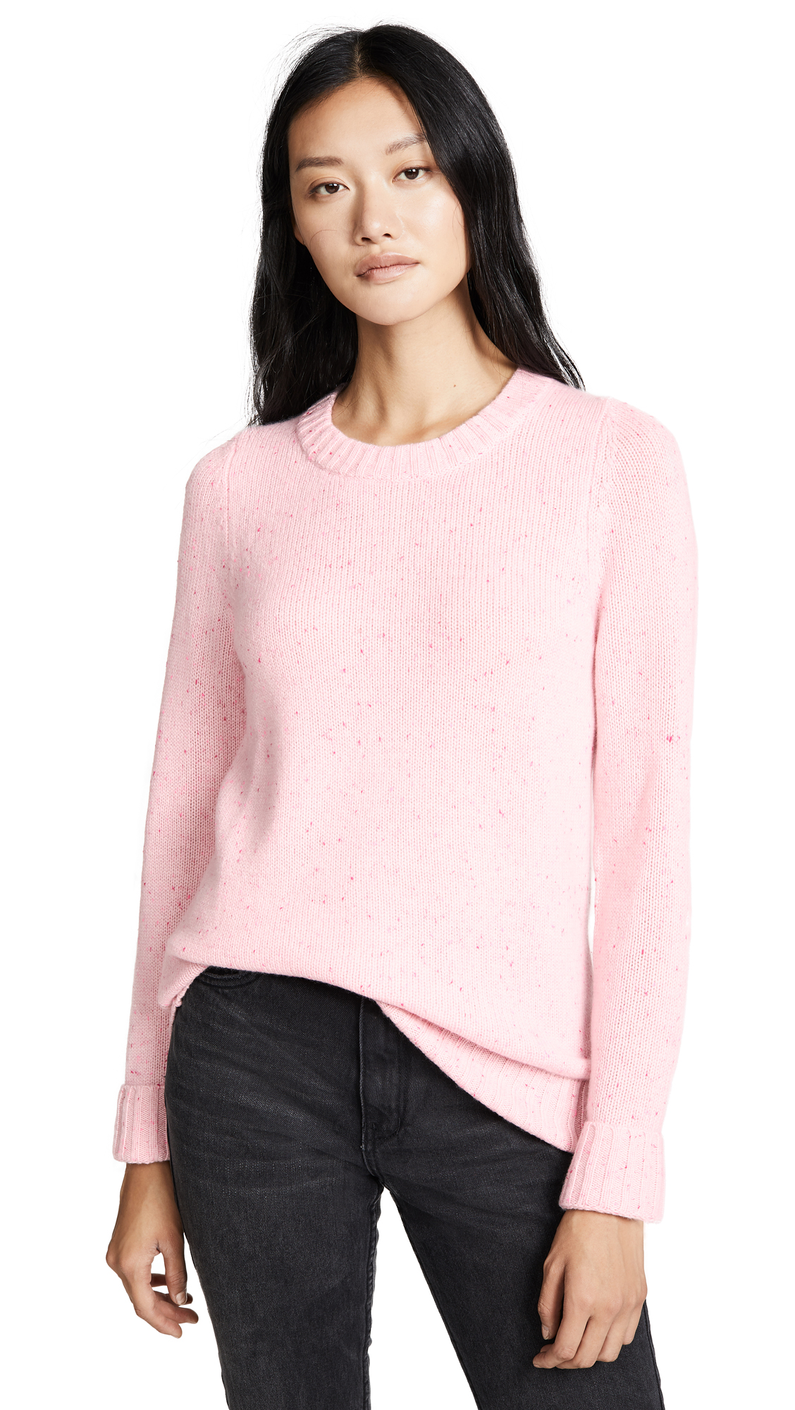 FREECITY Grandmothers Cashmere Sweater in Pinkgum
