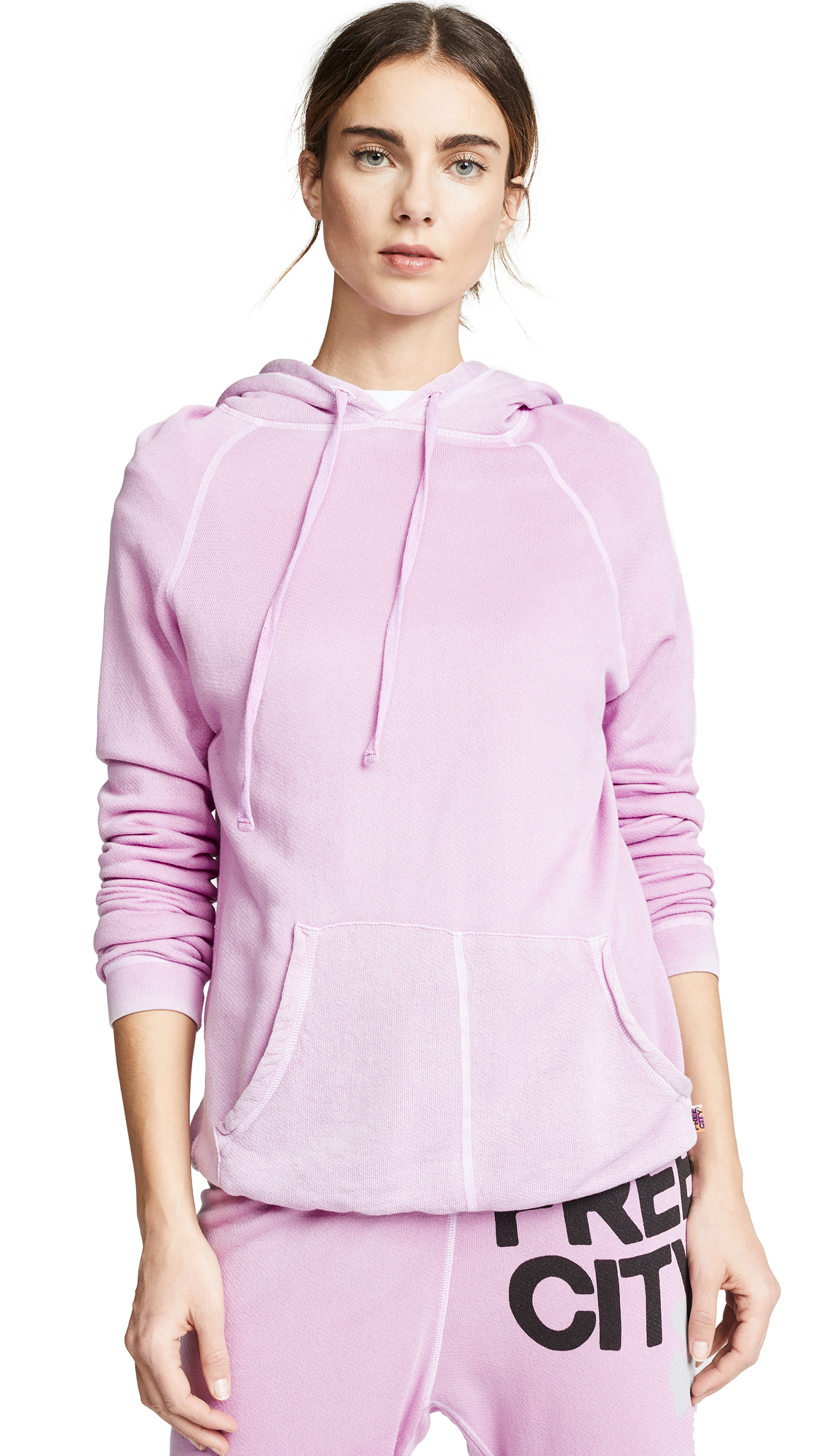 FREECITY Superfluff Lux Hoodie in Pink Gum Glass