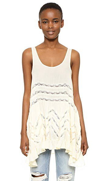 Free People Voile & Lace Trapeze Tank - Tea