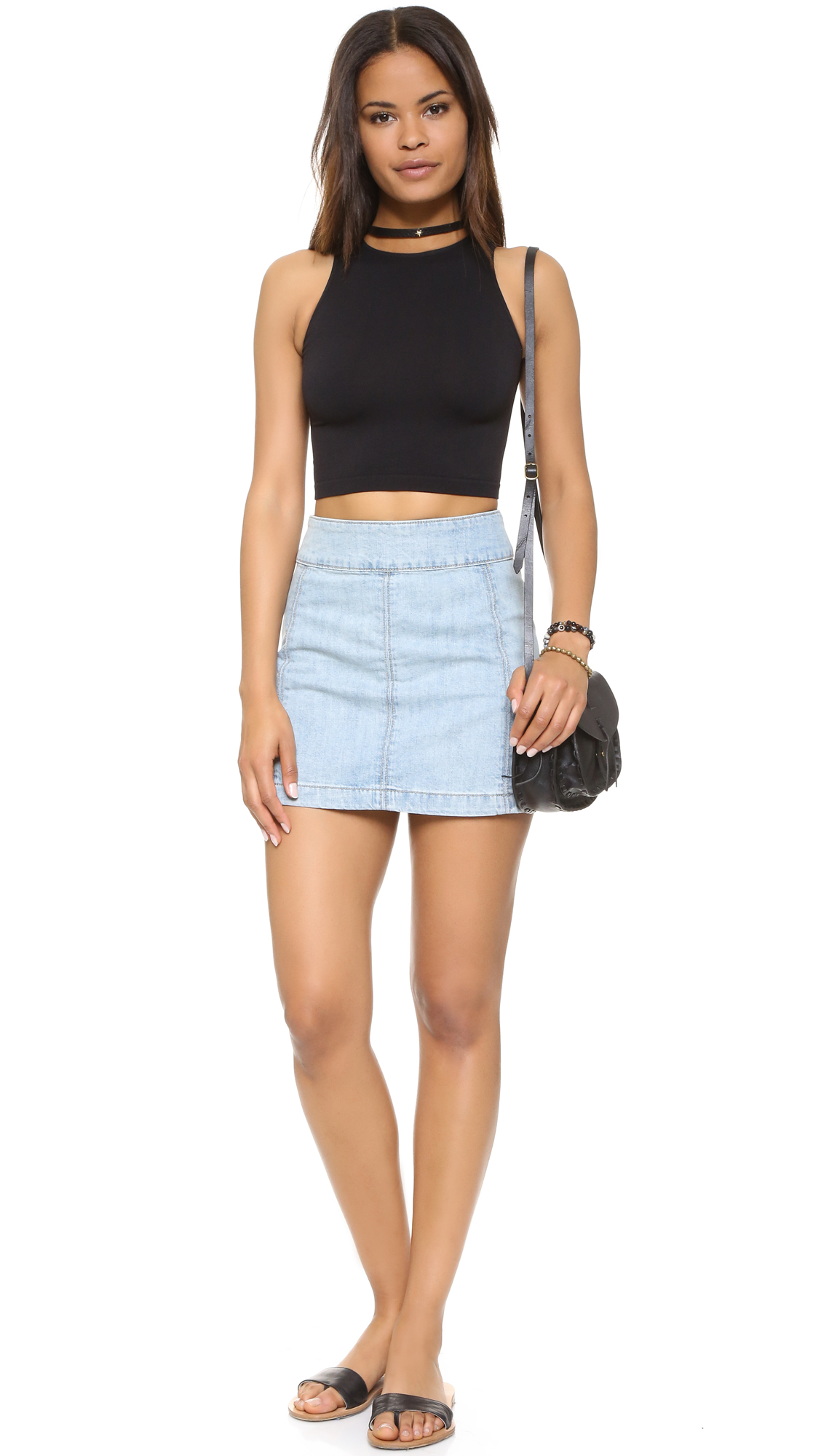 Exceptionnel Free People High Neck Crop Seamless Cami   SHOPBOP HL07