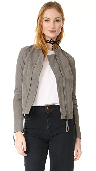 Free People Clean & Minimal Jacket - Steel Mill Grey