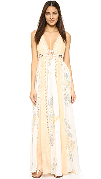 Free People Queen of the Sun Printed Maxi Dress