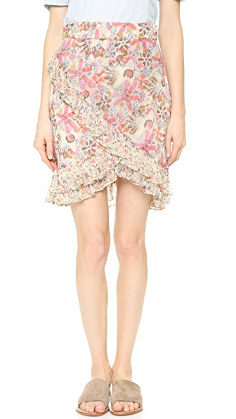 Free People Around The World Skirt - Ivory Combo